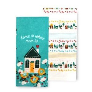 """Home is where mom is"" Kitchen Towel 2-pk NWT"